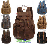 Heavy Duty Unisex Rucksack Canvas Multi-Purpose Backpack - GiftMo