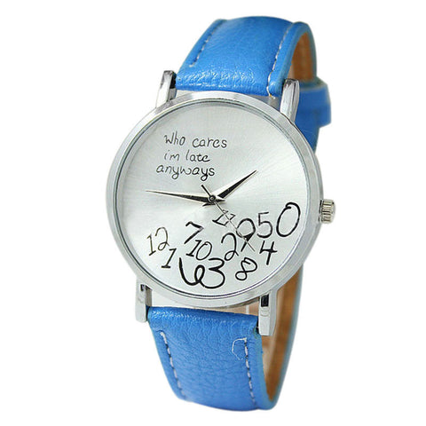 Hot Deal Fashion Women Mens Leather Stainless Steel Letter Watch Sport Quartz Wrist Watch - GiftMo