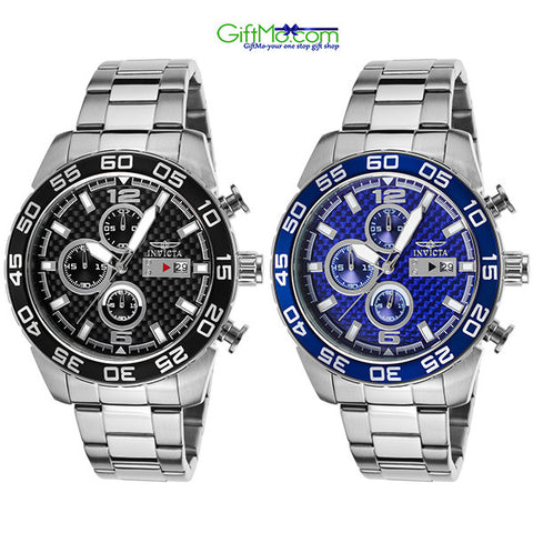 Hot Deal Invicta Men's Specialty SS Chronograph Watch with Carbon Fiber Dial - GiftMo