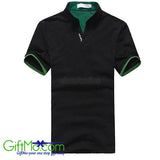 Men's Stylish Tops Slim Fit Casual Fashion Polo Shirt Short Sleeve Tee - GiftMo