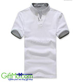 Men's Stylish Tops Slim Fit Casual Fashion T-shirts Polo Shirt Short Sleeve Tee