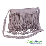Most Amazing Hobo Real Leather Fringe Suede Tassel Cross Shoulder Purse