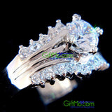 Eye Catching Simulated Diamond Engagement Ring