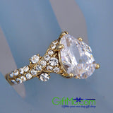 Most Beautiful 3ct Brilliant Simulated Pear Diamond Engagement Ring
