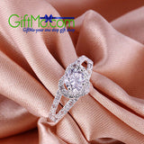 Most Beautiful Silver Plated Crystal Love Heart Bridal Ring