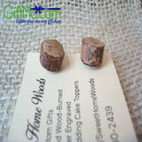 Most Beautiful Wood Stud Tree Slice Earrings