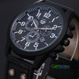 Most DURABLE Stainless Steel Military SPORT WATERPROOF Analog Quartz Wrist Watch