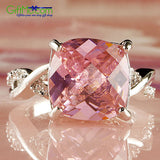 Most Stunning Silver Pink & White Gemstone Fashion Ring