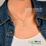 Music Lovers Rhinestone Silver Plated Melody Pendant Necklace - GiftMo