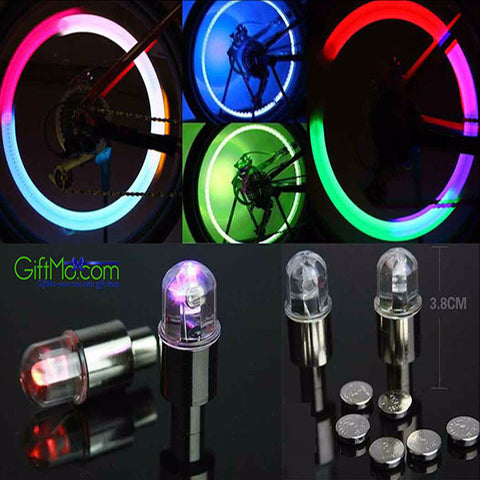 Pair of Bicycle LED Tire Valve Lights