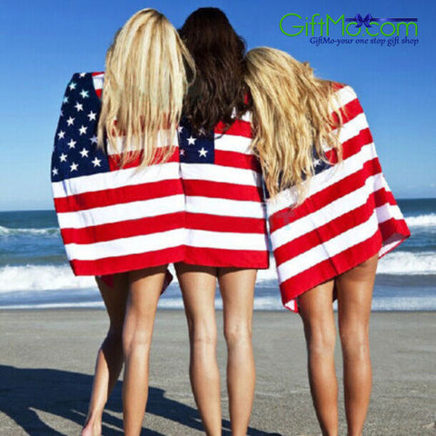 "Patriotic Flag Beach Towels - 30"" x 60"" - GiftMo"