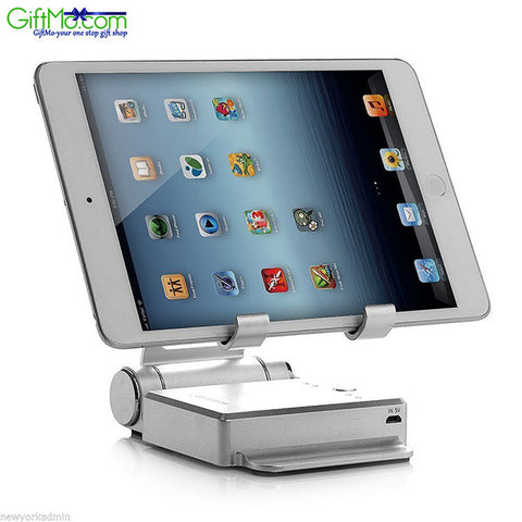 Podium Style 3 Pc Folding Gadget Stand with Built In Power Bank - GiftMo