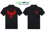 Pokemon Go Team Valor Team Mystic Team Instinct Pokeball nerd Black Tee shirt