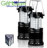 2 Portable Outdoor LED Camping Lantern Flashlight - GiftMo