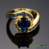 Pretty In Blue Sapphire Gold Filled 14kt Ring