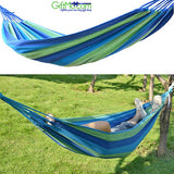 "Relaxing Outdoor Canvas Travel Hammock 75"" x 31"" - GiftMo"