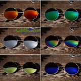 Retro Vintage Round Mirrored Outdoor Sports Sunglasses