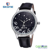 SKONE Luxury Gold Cloud Crystal Rhinestone Quartz Watch For Women