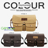 Soft Intage Style Unisex Canvas Messenger Travel School Casual Shoulder Bag