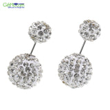 Stunning Pave Double Sided Stud Earrings - GiftMo