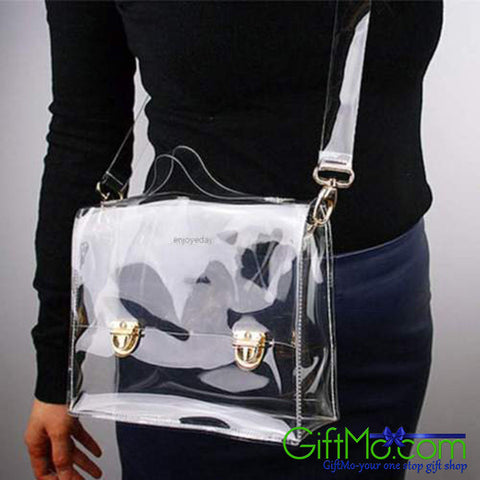 Stylish Transparent Clear Handbag Tote Shoulder Cross body Bag
