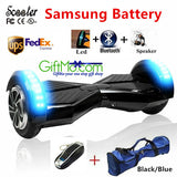 Super Fun 8 inch Bluetooth Hoverboard Two Wheel Scooter LED Bluetooth Key Skateboard Smart Balance