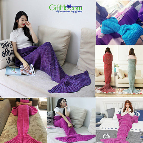 Supper Soft Crocheted Mermaid Tail Blanket
