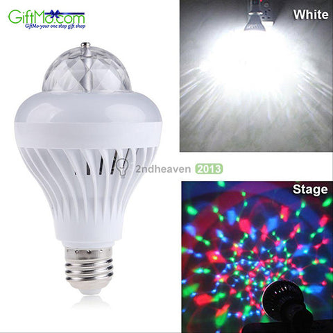 Great For Parties Two-In-One Rotating Party/Steady LED Bulb - GiftMo
