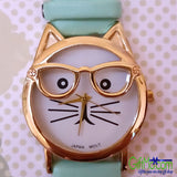 Unique Cat Face Watch Will Turn Heads 7 Great Colors - GiftMo