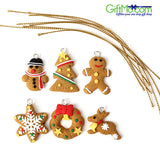 Unique Christmas Tree Decor Clay Pendants Hanging Ornament