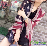 Vintage Style American Flag Scarf - GiftMo