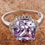 Dazzling Tourmaline & Purple White Topaz Silver Ring For Women - GiftMo