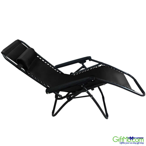 2 Outdoor Zero Gravity Lounge Chair Beach Patio Pool Yard Folding Recliner Black - GiftMo