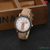 Modern Simulate Wood Watch Women's Men's Quartz Analog Casual Leather Wrist Watches - GiftMo