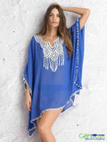 New Trendy 2016 Embroidery Summer Bikini Cover Up Tunic - GiftMo