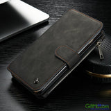 Stunning Design Genuine Leather Multi Functional Zipper Wallet Card Case Cover For Apple iPhone