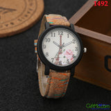 Modern Simulate Wood Watch Women's Men's Quartz Analog Casual Leather Wrist Watches