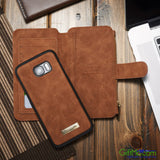 Smart Design Genuine Multifunction Leather Zipper Wallet Card Case Cover For Samsung - GiftMo