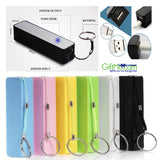 New Portable Mobile 2600mAh Power Bank USB Battery Charger Key Chain for Phone - GiftMo