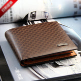Fashion Stylish Men Synthetic Leather Wallet Pocket Card Bifold Cente Clutch Purse - GiftMo