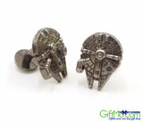 Star Wars Cufflinks Millennium Falcon Cuff Links - GiftMo