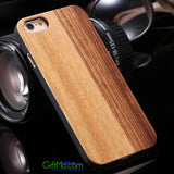Natural Wood Bamboo Shockproof Wooden Phone Case for iPhone Samsung - GiftMo