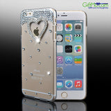 Girls 3D Bling Crystal Diamond Heart Case Cover for All iPhone 6 Models - GiftMo