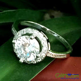 1 Cent 925 Sterling Silver Zirconia New Wedding Ring Size 5-10 - GiftMo