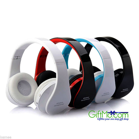 Bluetooth Wireless Headphones Soft Ear Cushions Noise Canceling Enhanced Bass for iPhone & Samsung - GiftMo