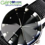 Leather Stainless Steel Military Sport Quartz Star Wrist Watch - GiftMo