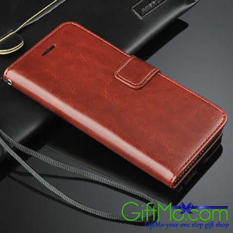 Beautiful Leather Flip Credit Card Slot Wallet Stand Cover Case For iPhone - GiftMo