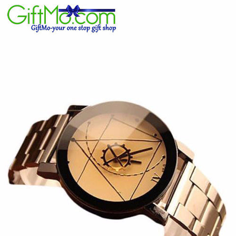 Unique Luxury Stainless Steel Wristwatch Mens Fashion Business Watch - GiftMo