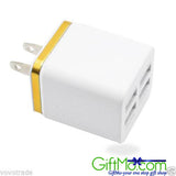 Travel 4 Ports AC USB Home Wall Charger US(EU) PLUG for iPhone for Samsung LOT - GiftMo