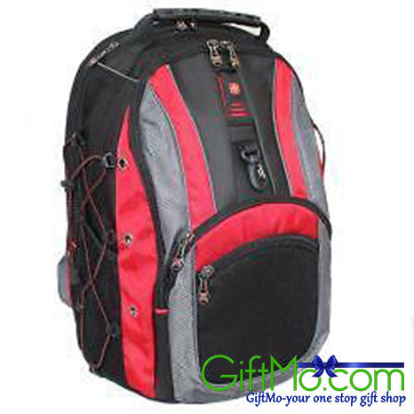 SwissGear The Hudson II Red 16-inch Laptop Computer Backpack - GiftMo